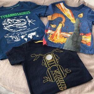 Boys 3 T-Shirt Bundle Dinosaurs Dragons Love Tacos